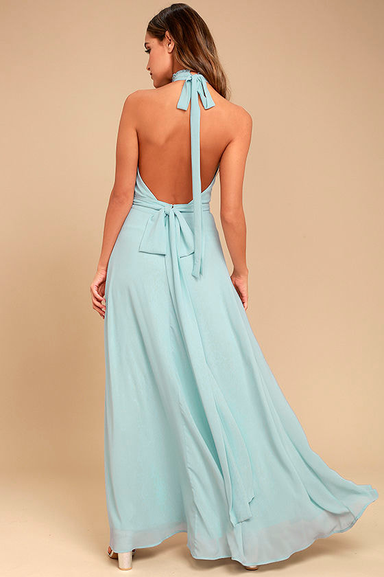First Comes Love Light Blue Maxi Dress 3