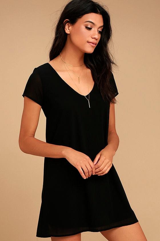 Freestyle Black Shift Dress 3