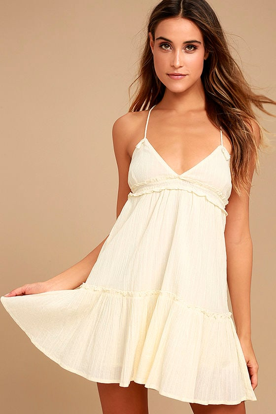 6bd6914a623 Billabong Sunshine Baby Dress - Cream Dress - Babydoll Dress -  49.95