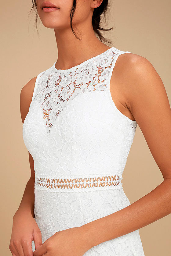 Music of the Heart White Lace Maxi Dress 4