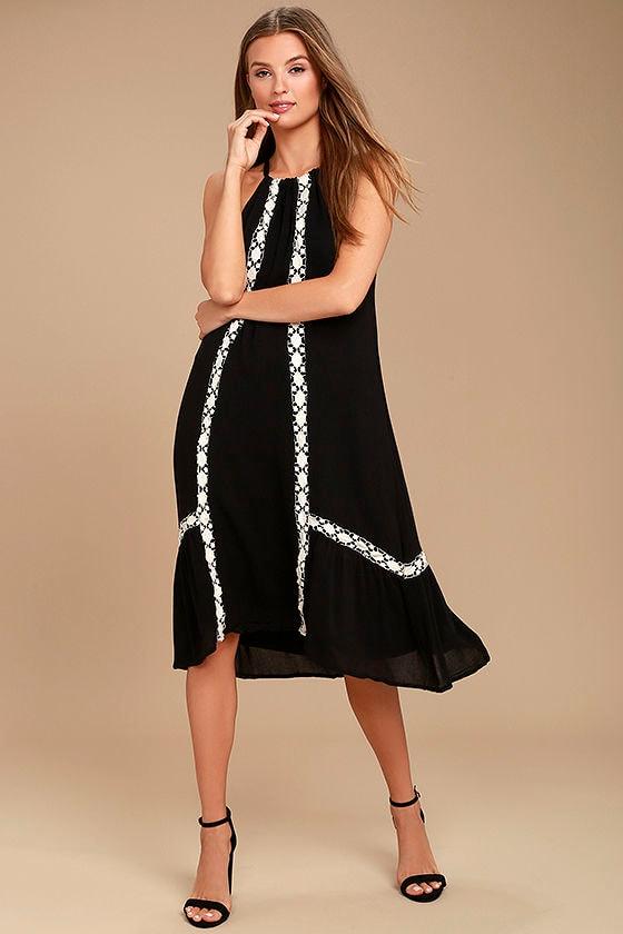 Dream a Dream Black Crochet Dress 1