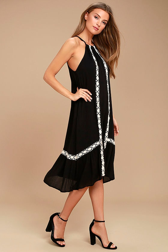 Dream a Dream Black Crochet Dress 2