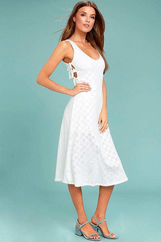 Lucy Love Latin Quarter White Lace Midi Dress 1