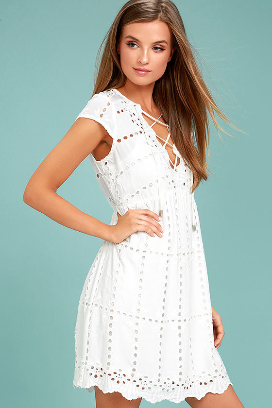 Here to Stay White Lace Dress 2