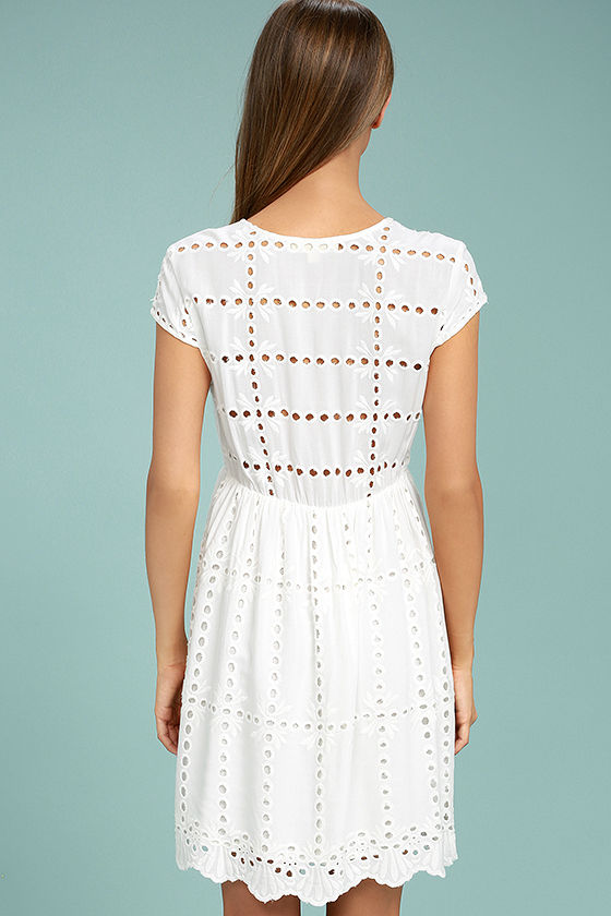 Here to Stay White Lace Dress 3