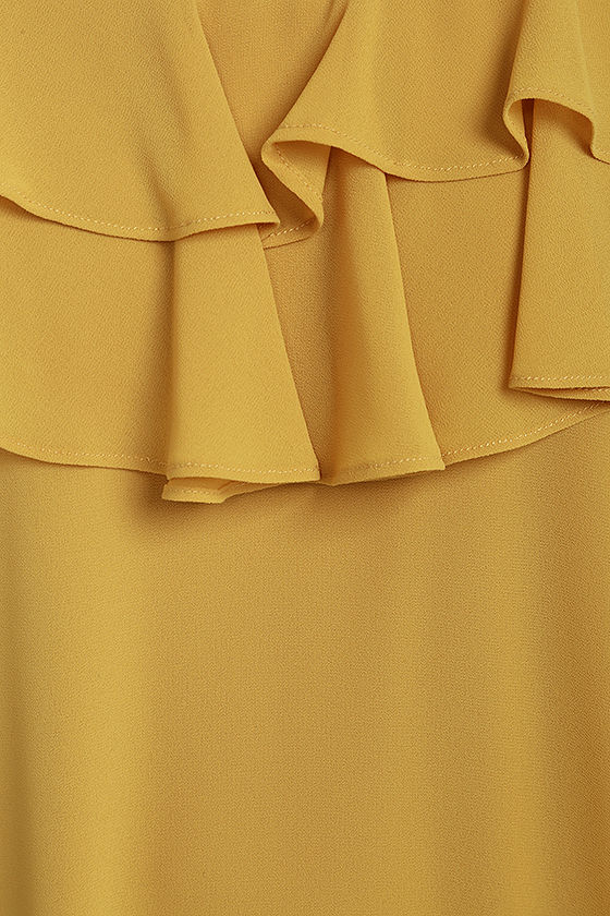 Impress the Best Yellow Off-the-Shoulder Dress 4