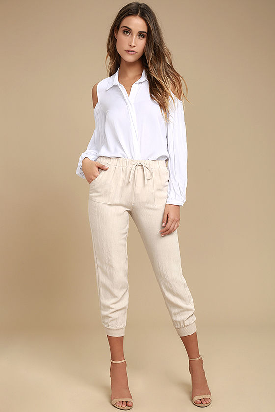Love Somebody White Long Sleeve Button-Up Top 2