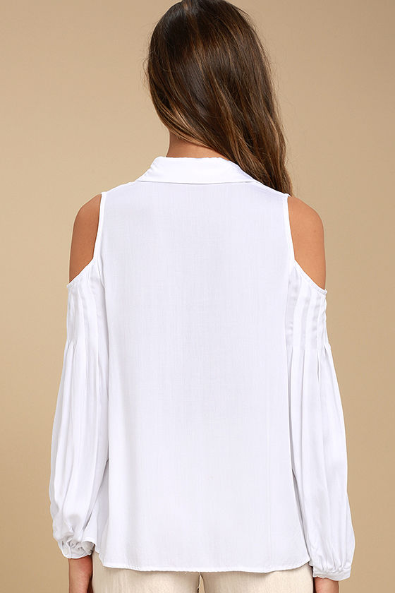 Love Somebody White Long Sleeve Button-Up Top 3