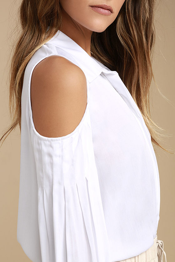 Love Somebody White Long Sleeve Button-Up Top 4