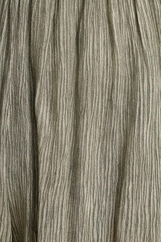 Darrah Olive Green Print Shorts 4
