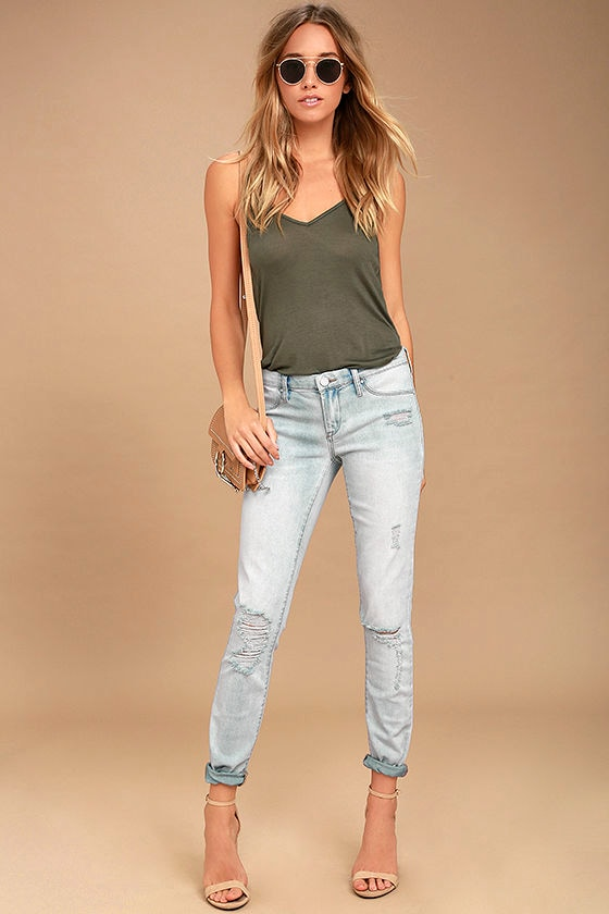 67d4dc6a43b1 Blank NYC Spray On Jeans - Light Wash Jeans - Distressed Skinny Jeans -  $88.00