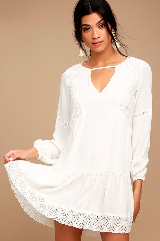 Somedays Lovin' The Whispering Ivory Lace Long Sleeve Dress 1