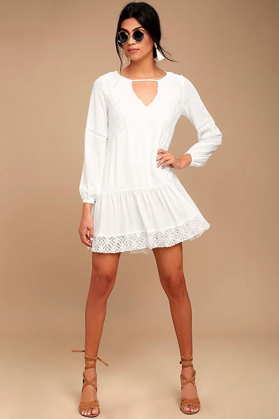 Somedays Lovin' The Whispering Ivory Lace Long Sleeve Dress 2