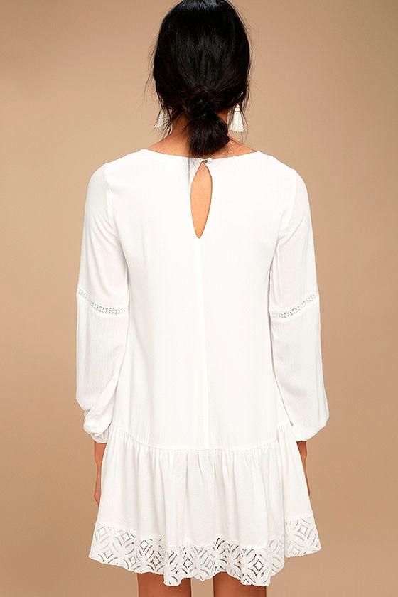 Somedays Lovin' The Whispering Ivory Lace Long Sleeve Dress 3