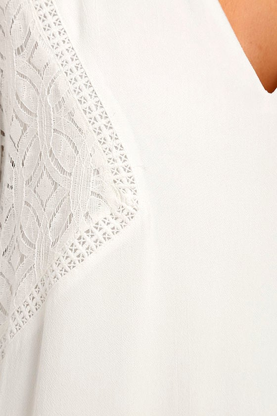 Somedays Lovin' The Whispering Ivory Lace Long Sleeve Dress 4