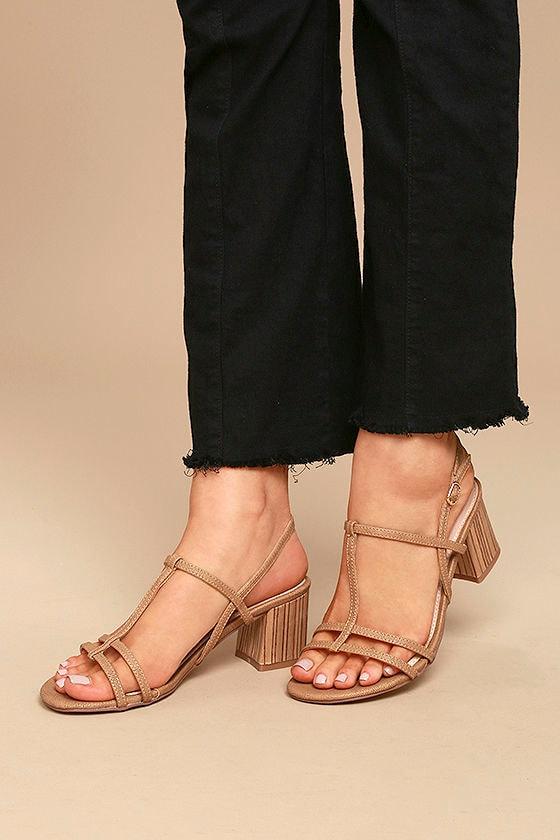 Carlita Beige High Heel Sandals 2
