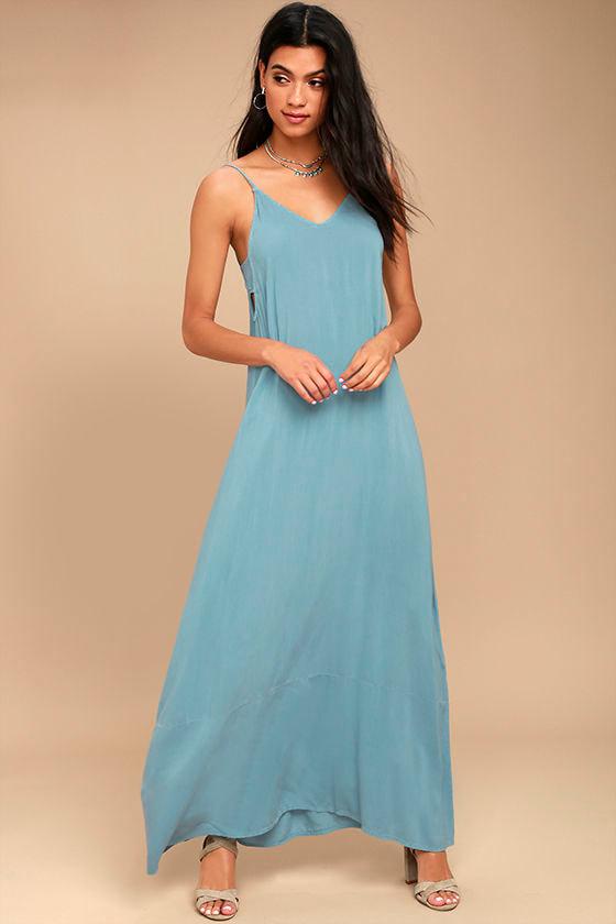 Project Social T Jo Light Blue Maxi Dress