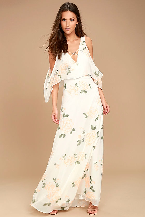 The Very Thought of You White Floral Print Maxi Dress 1