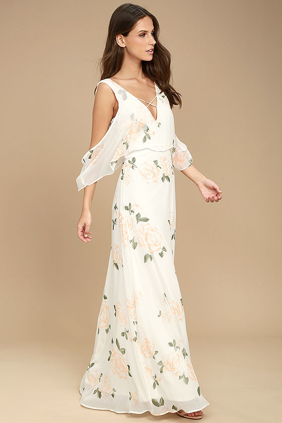 The Very Thought of You White Floral Print Maxi Dress 2