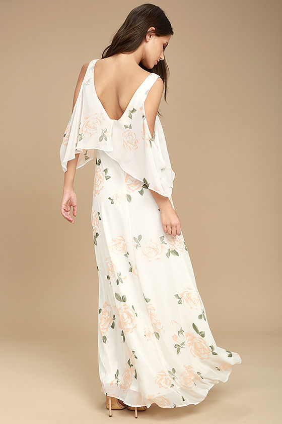 The Very Thought of You White Floral Print Maxi Dress 3