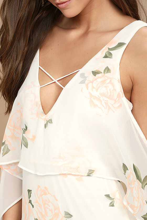 The Very Thought of You White Floral Print Maxi Dress 4