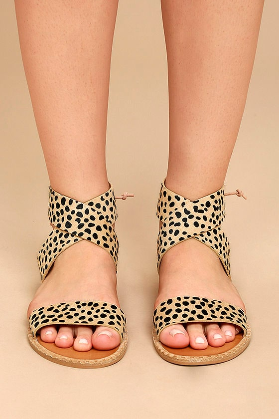 7fddbcdb5 Dolce Vita Pomona - Leopard Pony Fur Sandals - Lace-Up Sandals ...