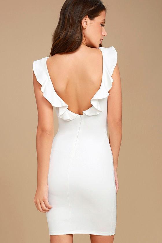 Simply Radiant White Bodycon Dress 4