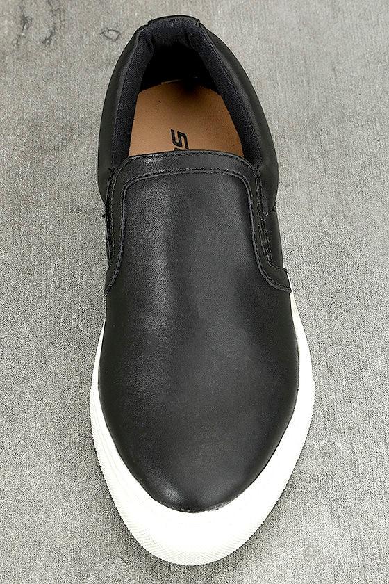 Ninette Black Slip-On Sneakers 4