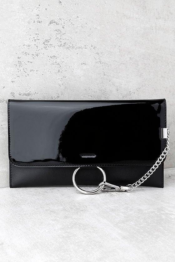 Easy Elegance Black Patent Clutch 1