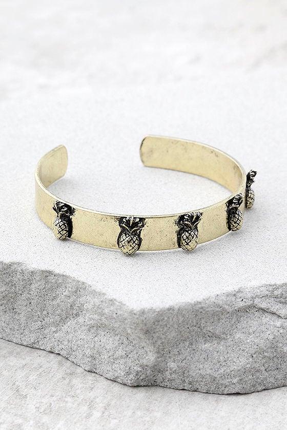 Tropical Treasures Gold Cuff Bracelet 1