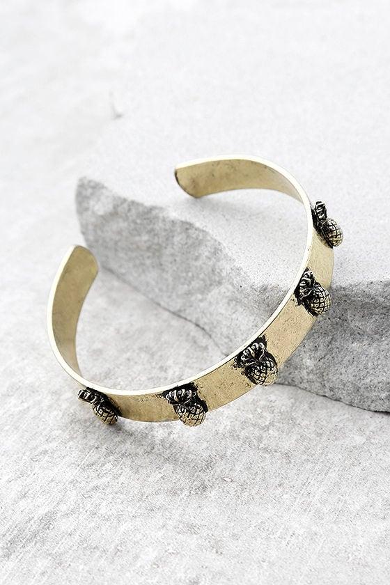 Tropical Treasures Gold Cuff Bracelet 2