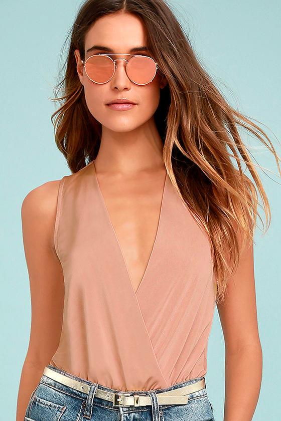 Saturday Night Delight Blush Pink Bodysuit 1