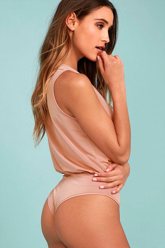Saturday Night Delight Blush Pink Bodysuit 3
