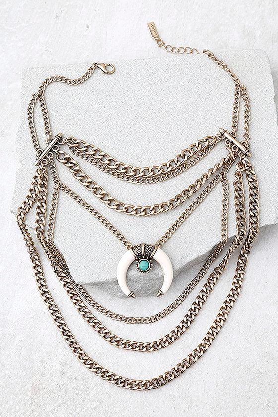 Sedona Sun Gold Layered Choker Necklace 1