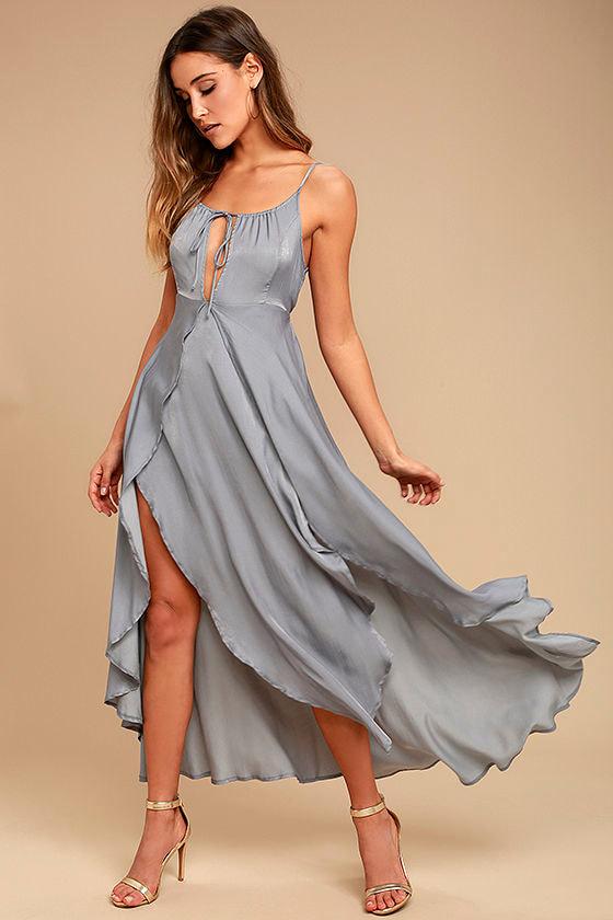 1a44ad884954 Somedays Lovin' Night Hour - Grey Dress - Midi Dress