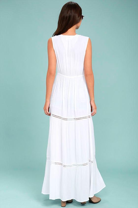Jack by BB Dakota Gwynn White Lace Maxi Vest 3
