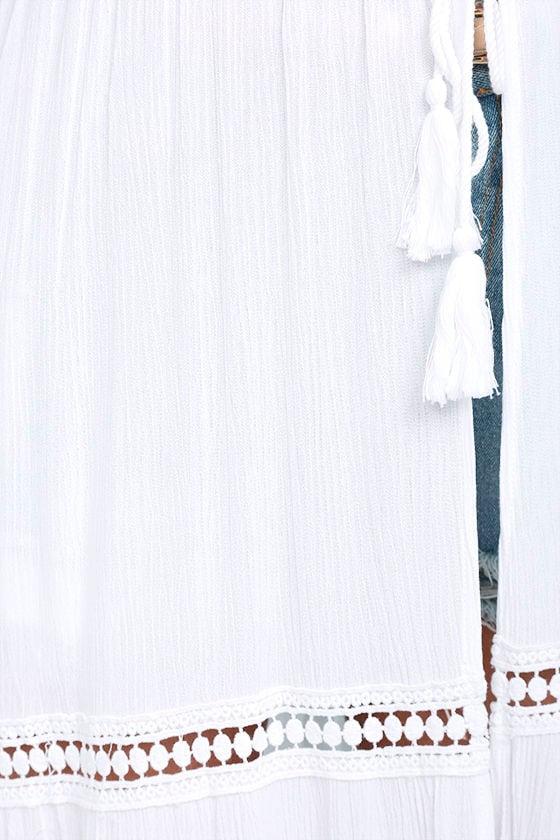 Jack by BB Dakota Gwynn White Lace Maxi Vest 4