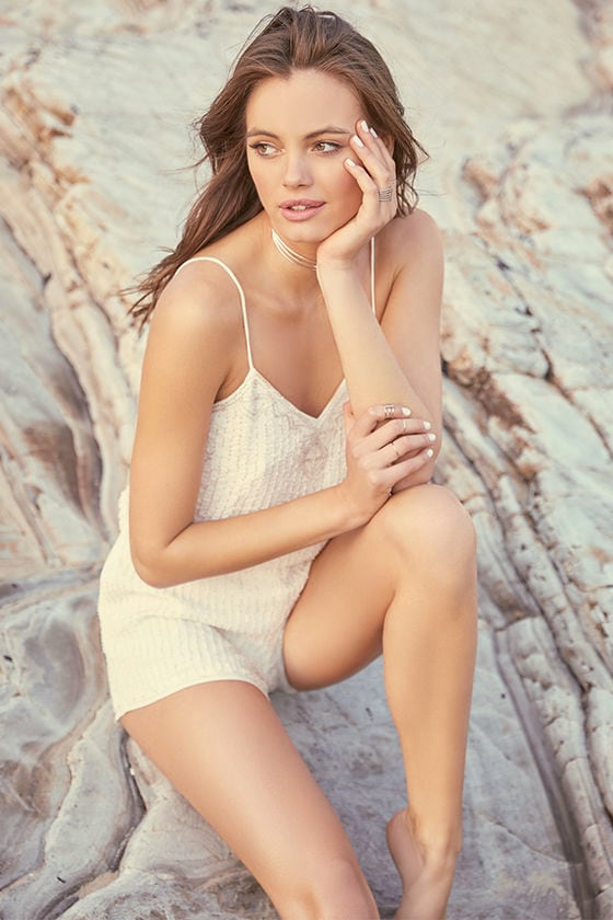 From This Day Forward Ivory Beaded Romper 2