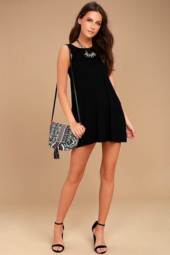 There She Goes Black Backless Swing Dress 2