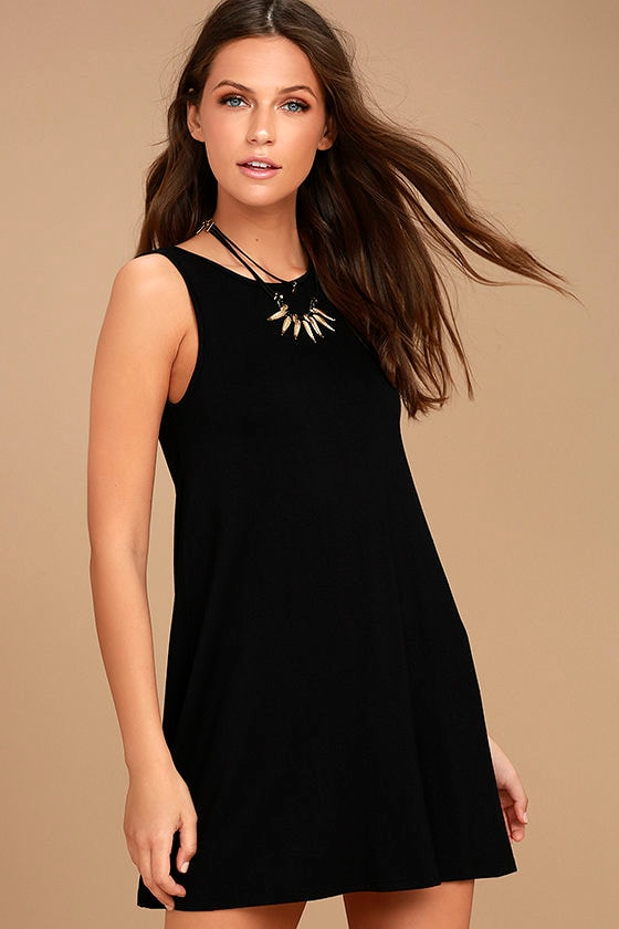 There She Goes Black Backless Swing Dress 3