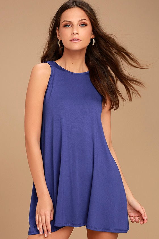 There She Goes Royal Blue Backless Swing Dress 3