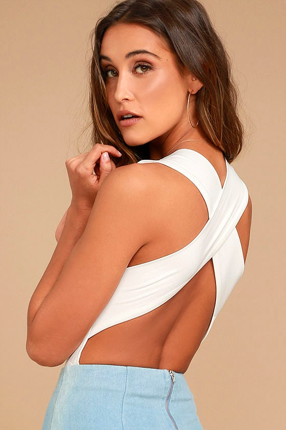 Match Point White Bodysuit 1