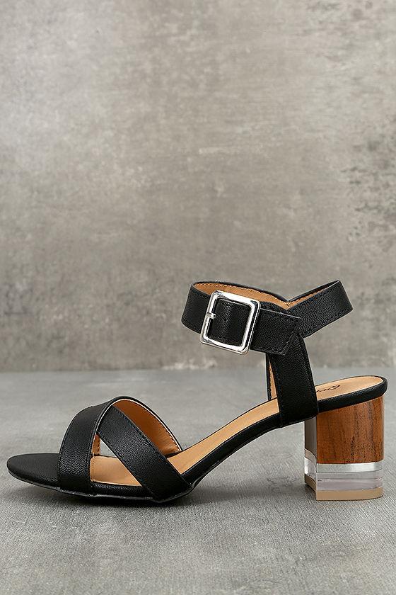 Blaire Black High Heel Sandals 1