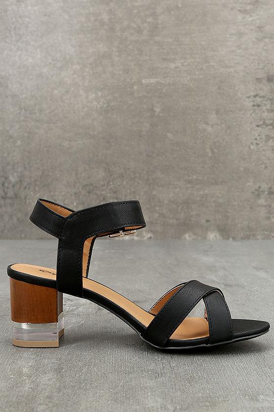 Blaire Black High Heel Sandals 3