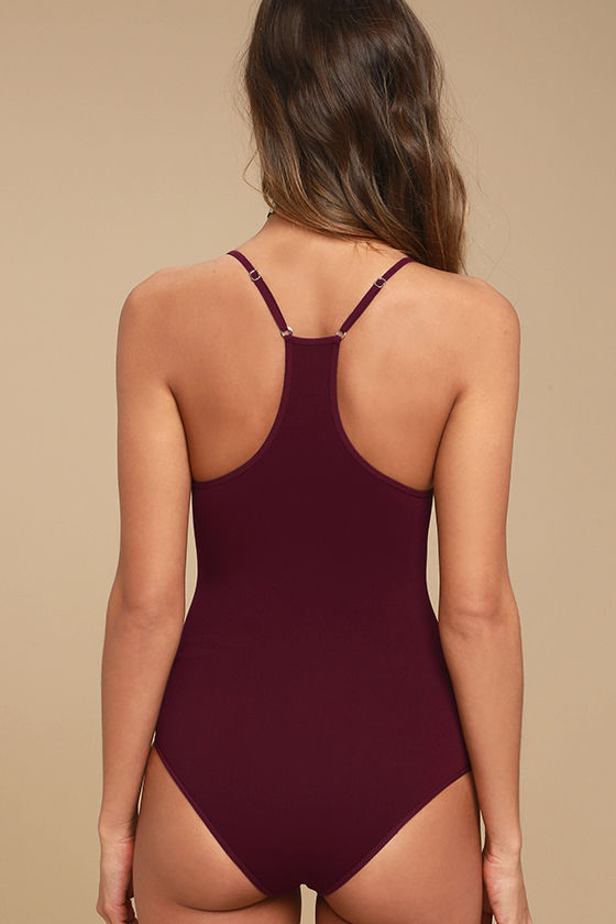 Free People Move Along Burgundy Bodysuit 3