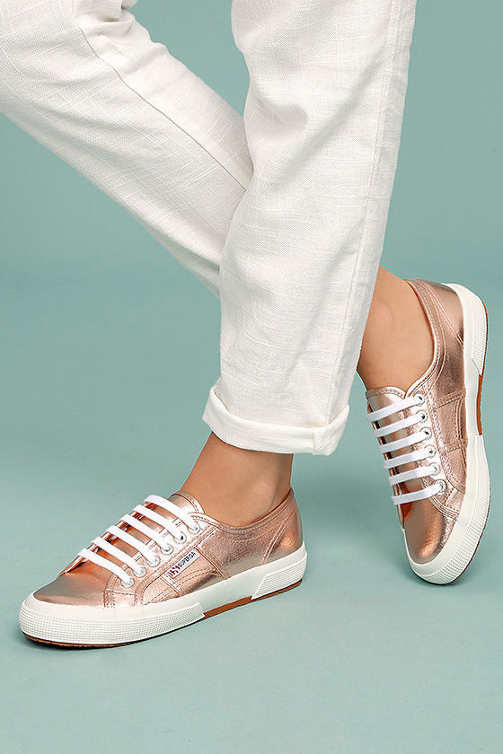 8278a2edba92 Superga 2750 COTMETU - Rose Gold Sneakers - Leather Sneakers -  79.00