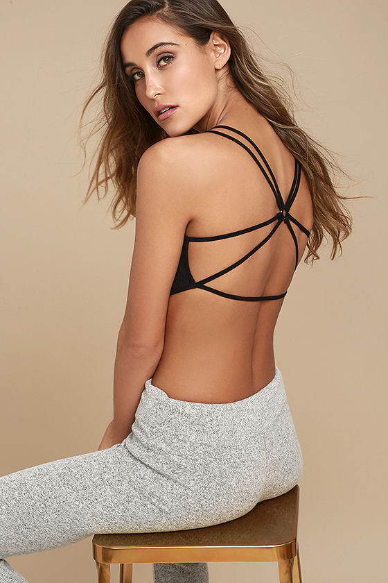 Free People Melt With You Black Bralette 1