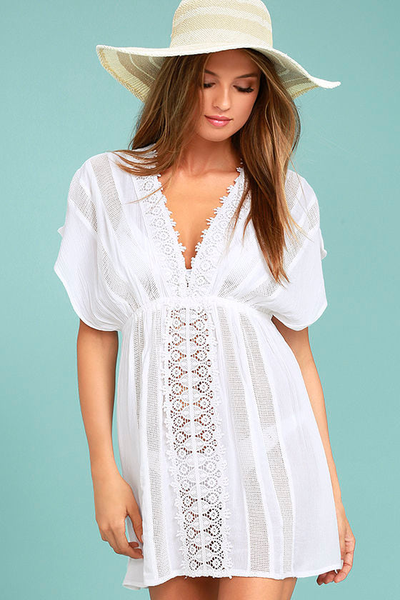 Oneill Kiala Cover Up White Lace Cover Up Crochet Cover Up 4950
