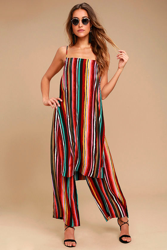 9bbfe6b8d305 Free People Ruby Set - Multi Striped Two-Piece Set - Two-Piece Jumpsuit