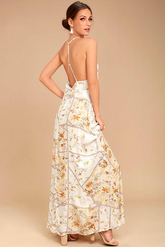 Somedays Lovin' A Little Sunshine Cream Floral Print Maxi Dress 2